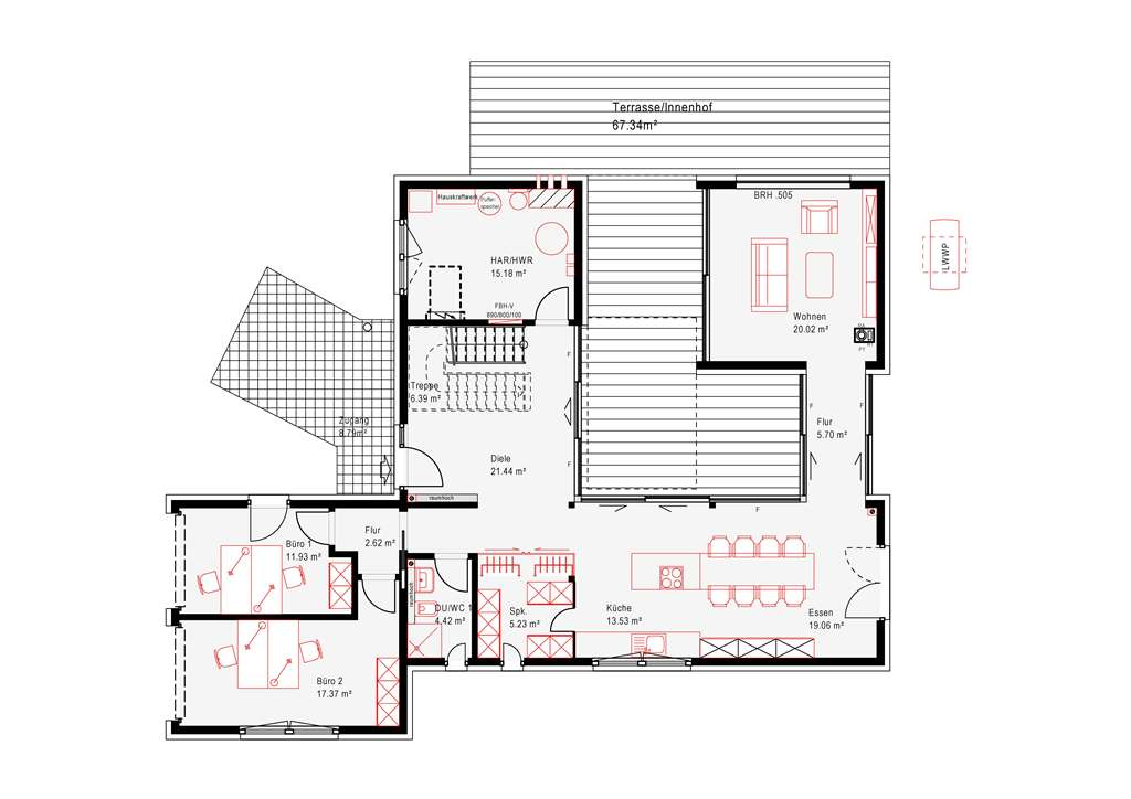atrium frankfurt okal haus gmbh musterhaus online. Black Bedroom Furniture Sets. Home Design Ideas