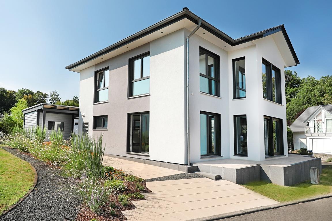 stadtvilla bad vilbel frankfurt suckf ll unser energiesparhaus gmbh co kg musterhaus online. Black Bedroom Furniture Sets. Home Design Ideas
