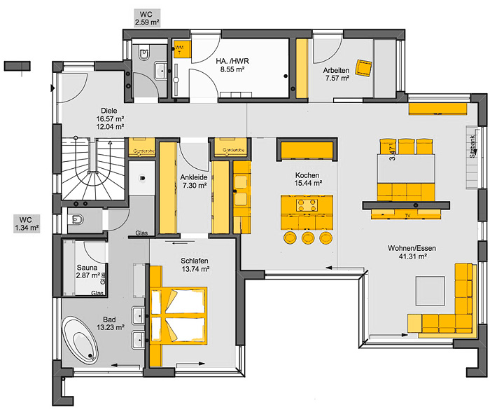 casaretto stuttgart b denbender hausbau gmbh musterhaus online. Black Bedroom Furniture Sets. Home Design Ideas